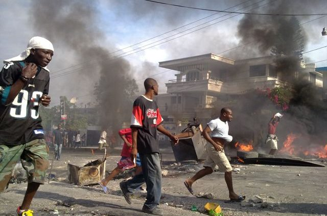 Riots in Haiti after the general elections taken place