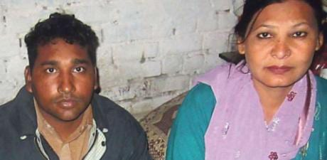Photo of Shagufta Kausar and her husband Shafqat Masih from  from the Punjab town of Gojrain Pakisten.They were sentenced to death in 2014 for allegedly sending a local imam blasphemous text messages insulting the Muslim Prophet Mohammad. They have been acquitted in a landmark judgement on June 3rd 2021.Only very tiny file quality available