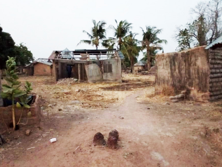 Destruction in the parish of St. John the Baptist, Nigeria, January 2019