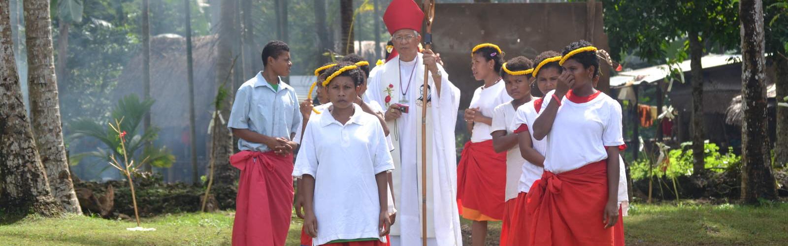 PNG-ACN Kiriwina openingsceremonie kleuterschool Guduwela 2