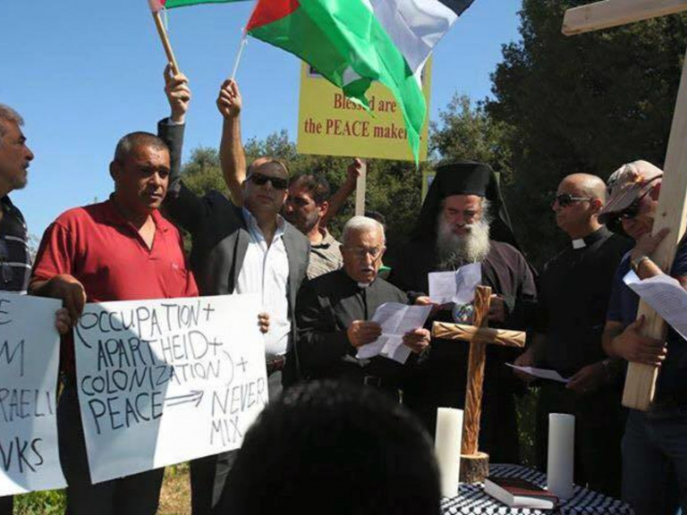 20150901-Palestijns-christelijk-protest