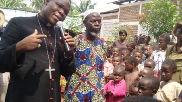 Central African Republic 2014: Refugee Camp at Carmelite Monastery at Bangui