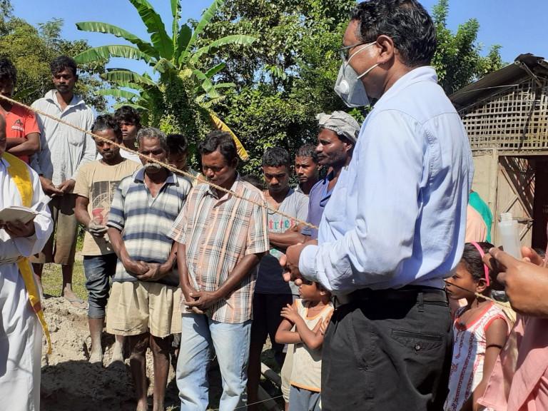 Construction of St. Mary's Village Church at Berajan under Balipara Parish