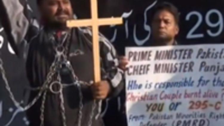 20141112-Pakistaanse-Christenen-Kasur-protesteren