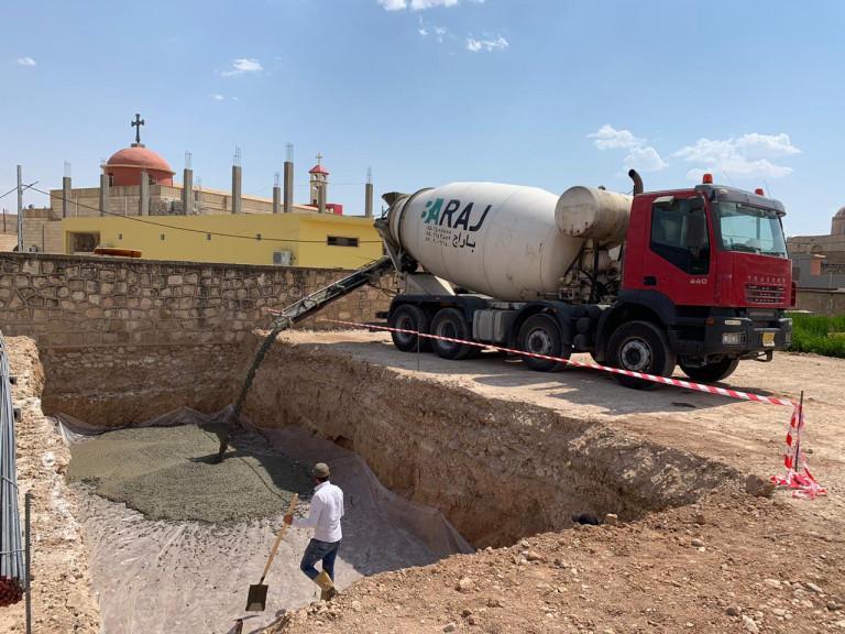 Construction of secondary school in Qarqush (Qaraqosh)